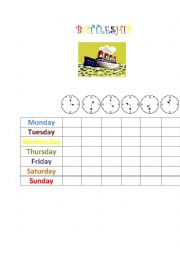 Battleship - days of the week and time game