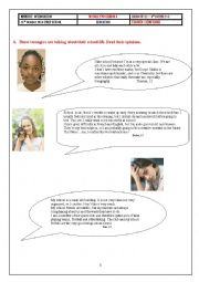 English Worksheet: Opinions About School    MODULE 2 LESSON 3  9th TUNISIA