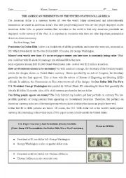 English Worksheet: Presidents On American Currency