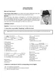 English Worksheet: Frank Sinatra Song