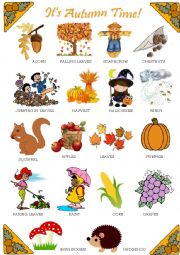 English Worksheet: Autumn - Pictionary