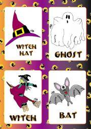 Halloween FLASHCARDS 1- 5