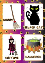 Halloween FLASHCARDS 2 - 5