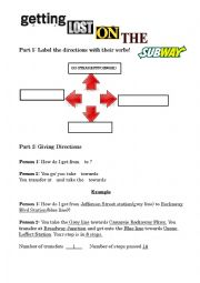 English Worksheet: Getting Lost on the Subway!