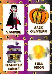 English Worksheet: Halloween FLASHCARDS 3 - 5
