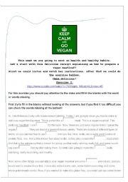 English Worksheet: Go vegan! Lesson plan B2-C1