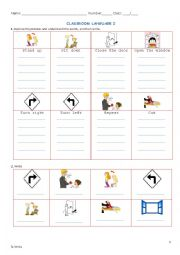 Classroom Language 2
