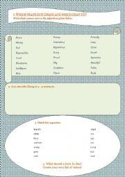Mulan worksheet - personality exercises based on the Disney movie