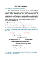 English Worksheet: Get connected