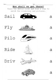 English Worksheet: How shall we get there?