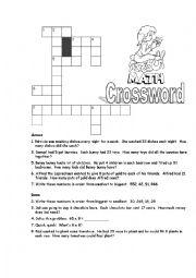 Multiplication Crossword