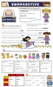 English Worksheet: comparative - as...as