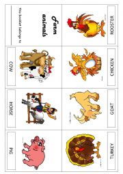 English Worksheet: Farm animals booklet