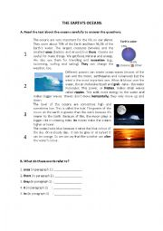 English Worksheet: The Earth�s Oceans