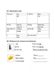 English Worksheet: rebus writing