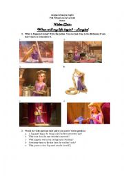 English Worksheet: Tangled - Present Simple