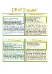 English Worksheet: PART 2 Extreme weather and environment (from book Activate B1)