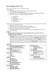 English Worksheet: IELTS SPEAKING PART 3 TIPS