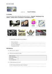 English Worksheet: lesson 34--social problems