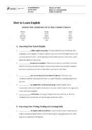 English Worksheet: How to learn English