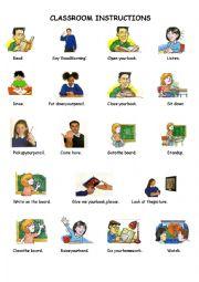 English Worksheet: Classroom Instructions