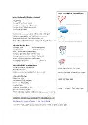 english worksheets singing under the rain. Black Bedroom Furniture Sets. Home Design Ideas