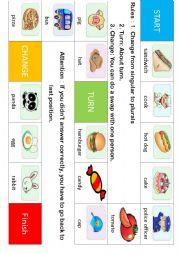 English Worksheet: Monopoly : singular to plurals