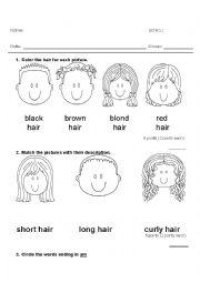 English Worksheet: Evaluation preschool