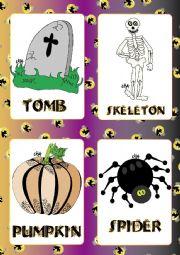 English Worksheet: Halloween FLASHCARDS 4 - 5
