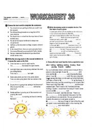 English Worksheet: PART 3 Weather and environmet (from book Activate B1 chapter 10)