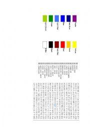 English Worksheet: Colours, Shops Crossword
