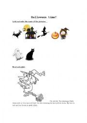 english worksheets halloween worksheets page 194. Black Bedroom Furniture Sets. Home Design Ideas