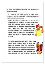 dangers of fast food essay