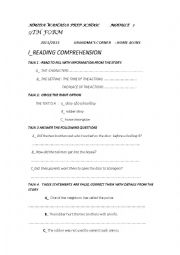 English worksheet: home alone tunisian textbook