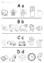 Coloring pictures according to letters