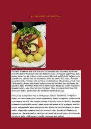 English Worksheet: Eating in Portugal