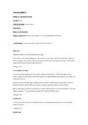 English Worksheet: lesson plan 6 kinder