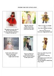 English Worksheet: poems for the little ones