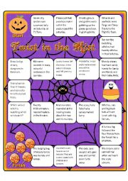 English Worksheet: Twist  in the Mist Tongue Twister Game and Memory Cards