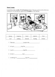 English Worksheet: House cleaning - Vocabulary