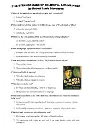 English Worksheet: The Strange Case of Dr Jekyll and Mr Hyde