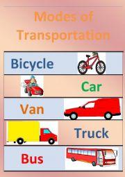 English Worksheet: Modes of Transportation