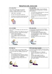 English Worksheet: Telephone Conversations - Activity Cards