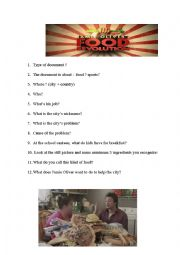 English Worksheet: Jamie Oliver�s Food Revolution - Listening