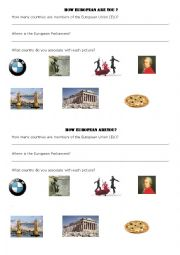 English Worksheet: BASIC questions about Europe