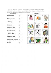 English Worksheet: directions