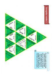 English Worksheet: Trimino - Irregular verbs game (part 3)
