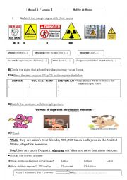 English Worksheet: 9th form lesson 5 Safety at home