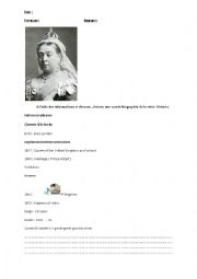 Queen victoria´s picture biography