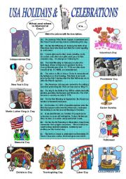 USA Holidays & Celebrations